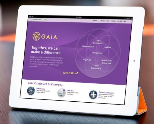 Gaia iPad UI