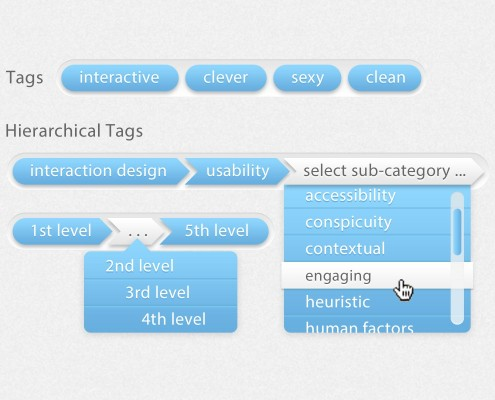 Hierarchical Tags UI