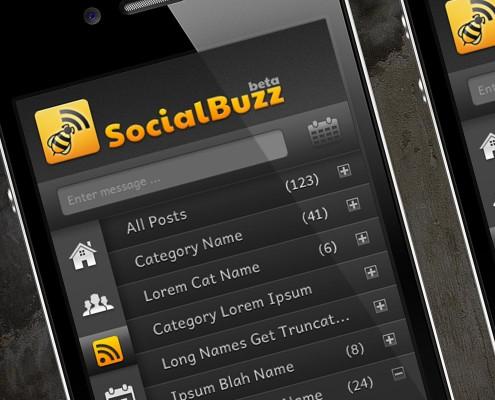 SocialBuzz App UI