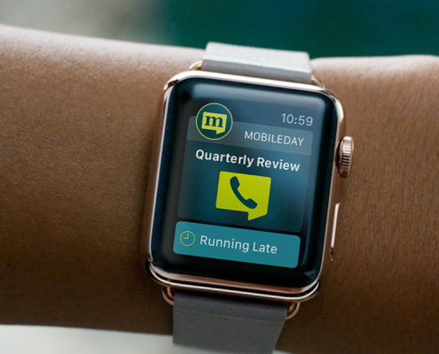MobileDay app deisgn on Apple WATCH Wearables